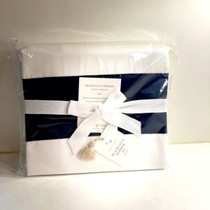 NWT. Serena & Lily Duvet Cover Navy Wht Full/Queen